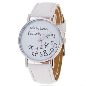 Accessories - I'm Late Anyway Quartz Statement Watch.